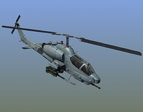 AH1W Cobra attack helicopter 3D model