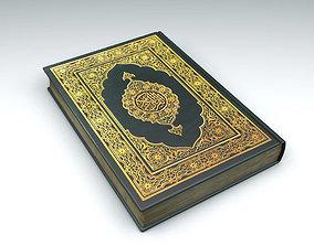 3D asset Quran Muslim Bible Book - Cover v1