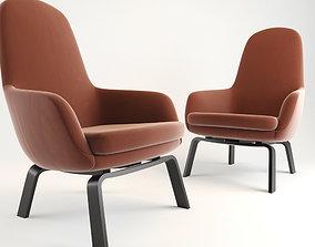 Era Lounge Chair High Wood 3D model
