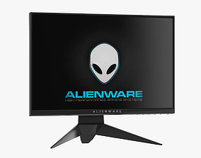 3D Dell Alienware 25 Gaming Monitor AW2518H
