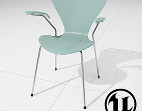 3D model Arne Jakobsen Series 7 Chair UE4