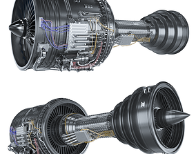Engine jet boeing sci-fi 3D model