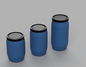 Pack Gallon Plastic Drum Diorama 1-43 scale 3d print 1
