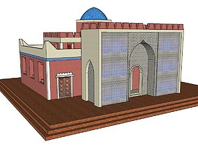 Persian Courthouse Low Poly Model 3D asset