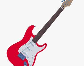 Electric guitar 3D PBR
