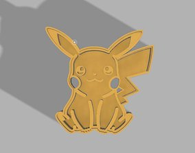 3D printable model Pikachu cookie cutter