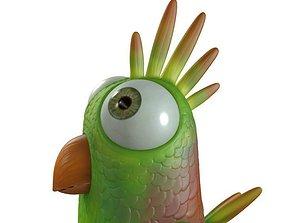 3D asset Cartoon Bird Character