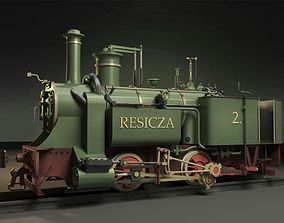 3D Resicza 1872 Steam Locomotive Engine