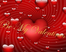 Valentines Gift Card 3D model