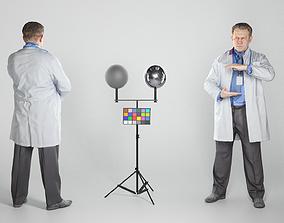 3D asset Adult medical doctor male is demonstrating 2