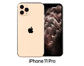 3D model mobile Apple iPhone 11 Pro Gold