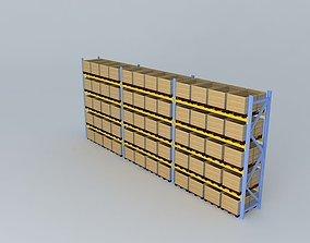 3D model racking three parts