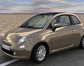 Fiat 500 3D model animated