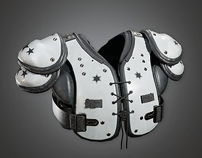 3D asset Football Pads 01a - Sports And Gym