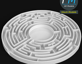 Circular labyrinth 3D model