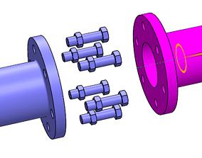 3D print model Flange coupling