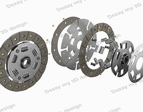 Spare parts for car clutch disk 3D model