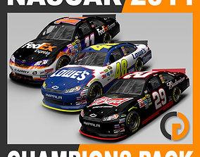 Nascar 2011 2010 Champions Cars 3D model