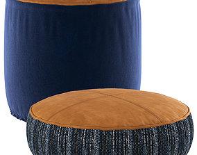 3D MrJasonGrant Odyssey Floor Cushion and Denim Ottoman