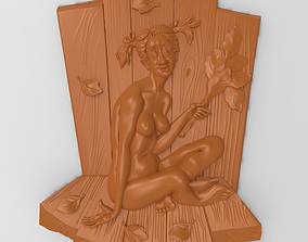 3D print model Nude woman in bathhouse Bas relief