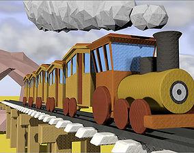 3D Cartoon Animated Train