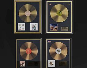 Gold vinyls set 3D
