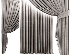 Curtain with garter 3D