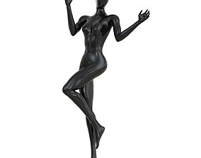 Black female abstract mannequin 100 3D model