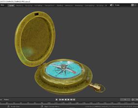 Antique Compass 3D model low-poly