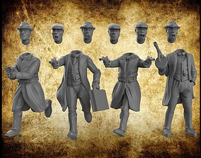 3D printable model Gangsters and Police interchangeable