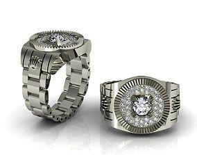 Rolex Ring No 01 3D print model