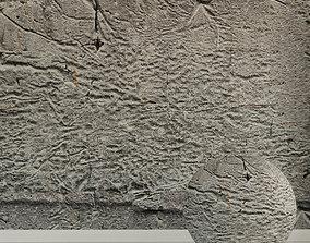 grey Concrete wall Old concrete 138 3D model