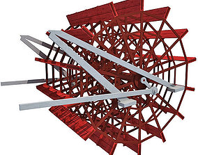 Paddle Wheel paddle 3D