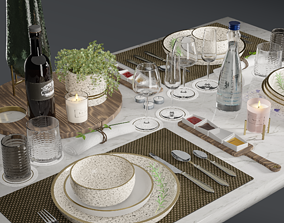 realtime Tableware Decor 3D