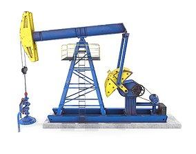 3D model Oil Pumpjack Animated 1