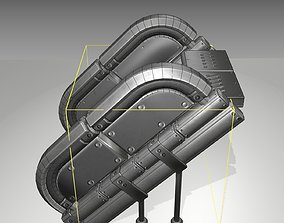 3D model Futuristic Stairs - 32 - Basic Textures
