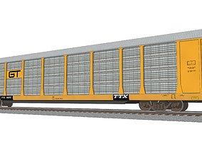 3D model Train Car - Car Carrier - GT Autorack