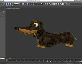 3D model animated Cartoon Dog