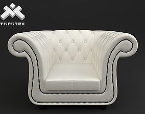3D model Chesterfield style armchair seat