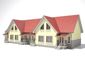 3D model House stone textured