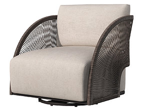 3D OUTDOOR PAVONA SWIVEL LOUNGE CHAIR 2021 by RESTORATION