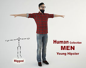 Young Hipster 3D model