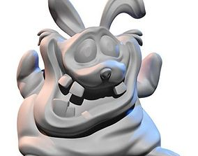 Funny rabbit desk toy 3D printable model