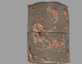 3D asset realtime rust barrel