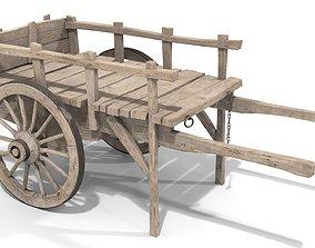 3D asset Wooden Trader Cart