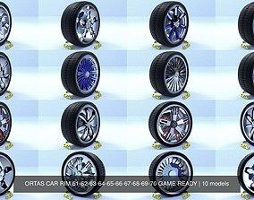 3D model ORTAS CAR RIM 61-62-63-64-65-66-67-68-69-70 GAME