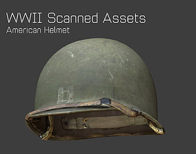 US Helmet - WW2 Scanned Asset Pack VR / AR ready