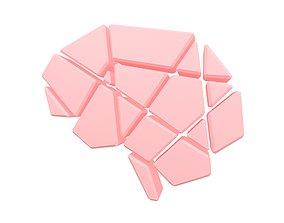Brain Symbol v2 002 3D asset