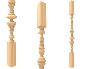 3D printable model Wood baluster 3