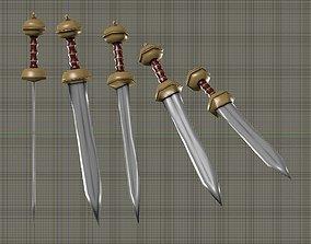 Gladius Sword 3D model VR / AR ready